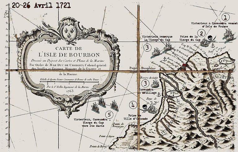 Carte Ile Bourbon 1700