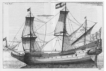 Zuid Beveland Navire transportant des Huguenots